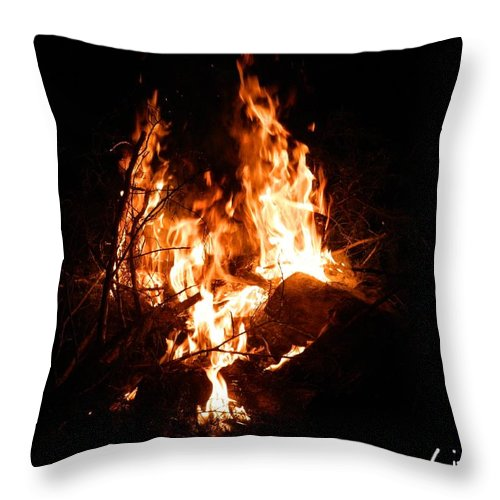Fire Throw Pillow featuring the photograph Phoenix Se Levant Des Flammes by George Pedro