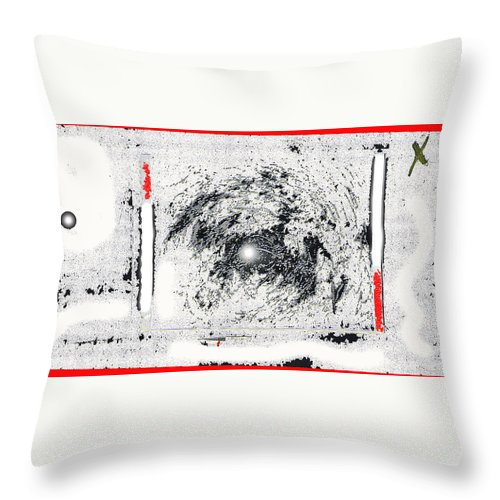 Photo Homage William Klein Street Lamp Night Number 1 Aberdeen South Dakota Polaroid 1964 Color Drawing Added Throw Pillow featuring the photograph Photo Homage William Klein Street Lamp Night Number 1 Aberdeen South Dakota Polaroid 1964-2009 by David Lee Guss