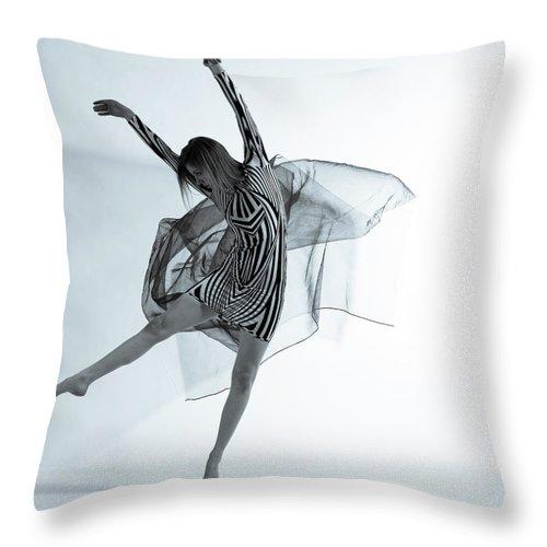 Ballet Dancer Throw Pillow featuring the photograph Photofusion Shoot Jan 2013 by Maya De Almeida Araujo