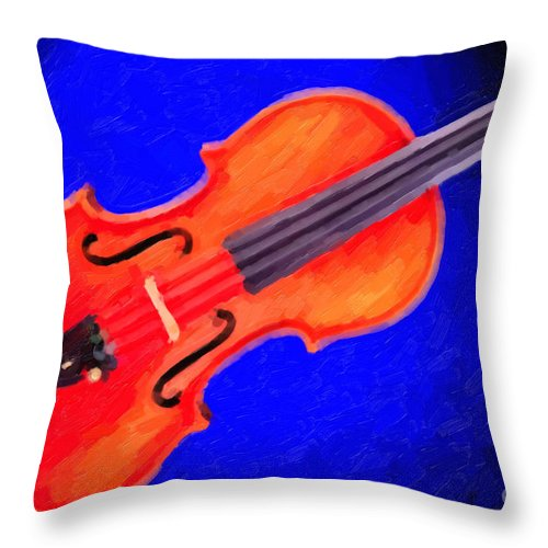 Violin Throw Pillow featuring the painting Photograph Of A Complete Viola Violin Painting 3371.02 by M K Miller