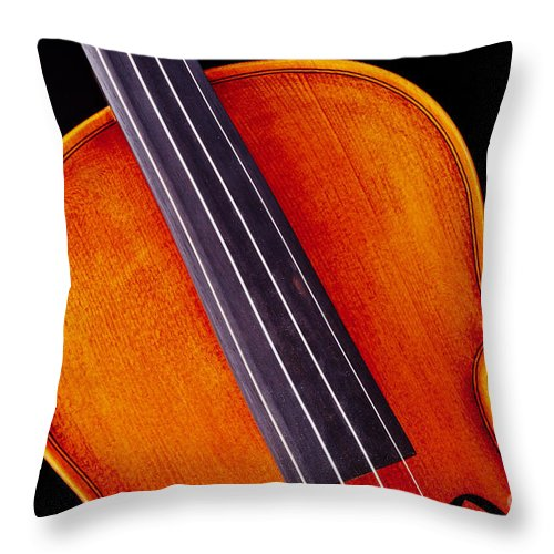 Violin Throw Pillow featuring the photograph Photograph Of A Upper Body Viola Violin In Color 3369.02 by M K Miller