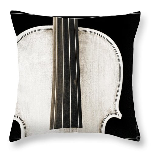 Violin Throw Pillow featuring the photograph Photograph Or Picture Viola Violin Body In Sepia 3367.03 by M K Miller