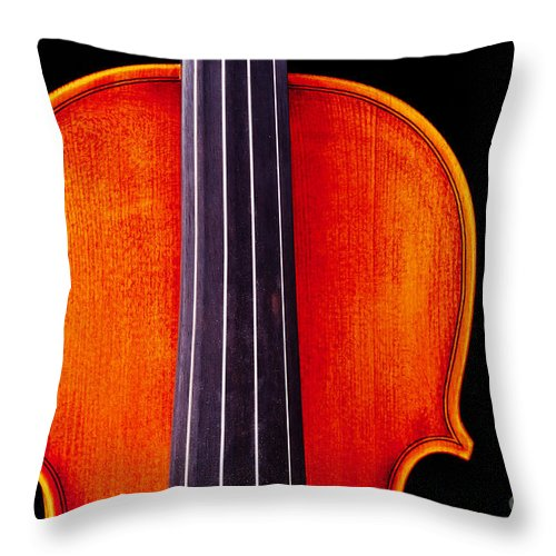 Violin Throw Pillow featuring the photograph Photograph Or Picture Violin Viola Body In Color 3367.02 by M K Miller