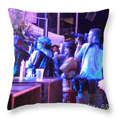 Photographer Pit Rw2k14 Throw Pillow featuring the photograph Photographer Pit Rw2k14 by PJQandFriends Photography
