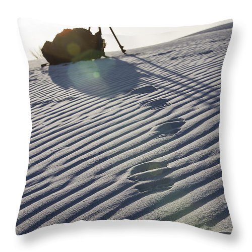 Landscapes Throw Pillow featuring the photograph Photographers Gear by Amber Kresge