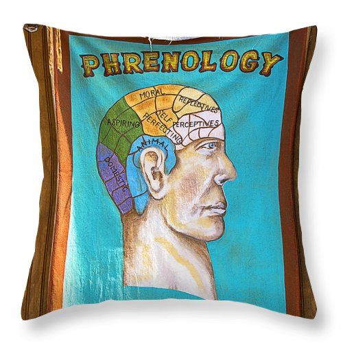 Phrenology Throw Pillow featuring the photograph Phrenology by Garry Gay