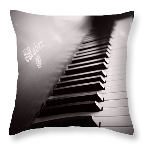 Piano Throw Pillow featuring the photograph Piano At The Sprague House by Toni Hopper