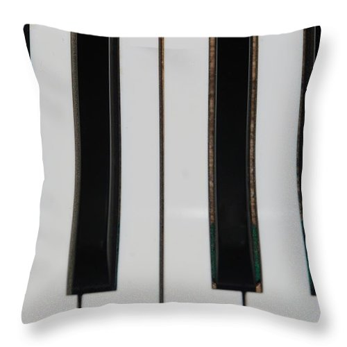Piano Throw Pillow featuring the photograph Piano Keys by Rob Hans