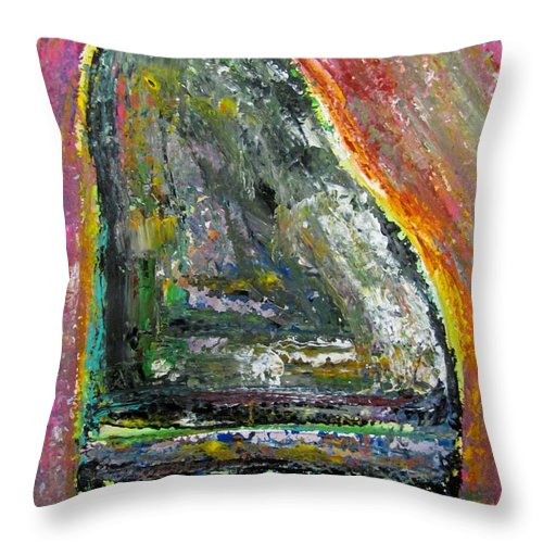 Impressionist Throw Pillow featuring the painting Piano Red by Anita Burgermeister