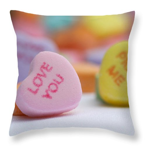 Valentines Day Throw Pillow featuring the photograph Pick Me by Diana Haronis