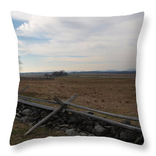 Joshua House Photo Throw Pillow featuring the photograph Picketts Charge The Angle by Joshua House