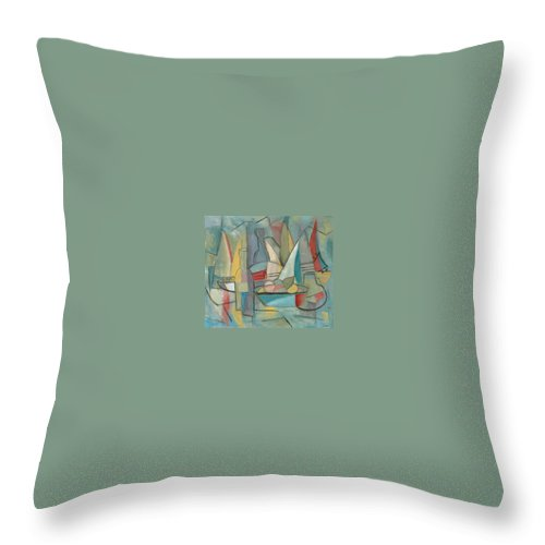 Still Life Throw Pillow featuring the painting Picnic In July by Trish Toro