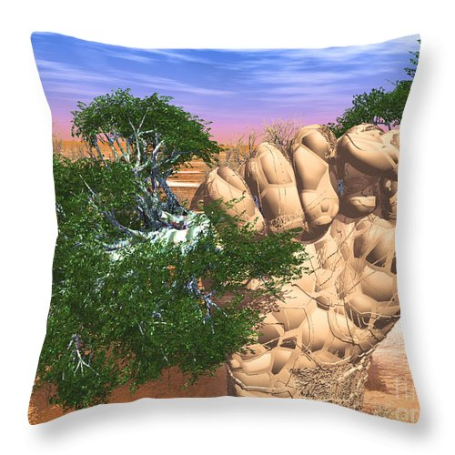 Nature Throw Pillow featuring the digital art Piece Of Wasteland by Eric Nagel