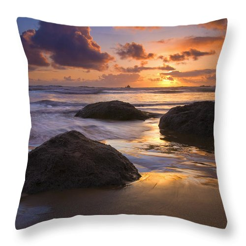 Sunset Throw Pillow featuring the photograph Pieces of Eight by Mike Dawson