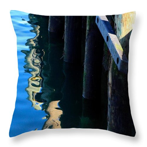 Cape Cod Throw Pillow featuring the photograph Pier Reflection by Stuart Litoff