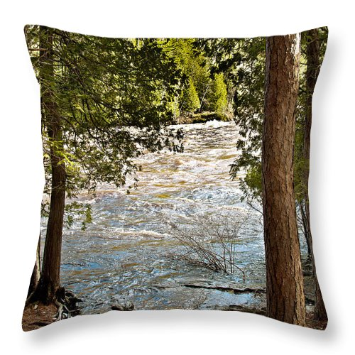 Piers Gorge Throw Pillow featuring the photograph Piers Gorge by Gwen Gibson