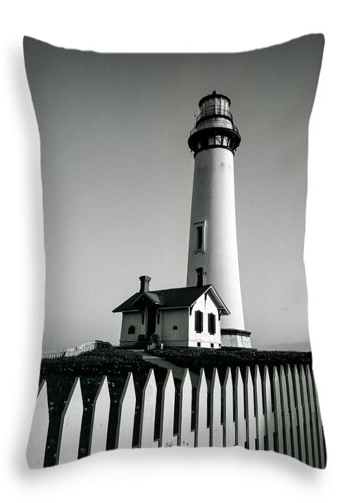 Pigeon Point Lighthouse Throw Pillow featuring the photograph Pigeon Point Lighthouse by Matthew Pace
