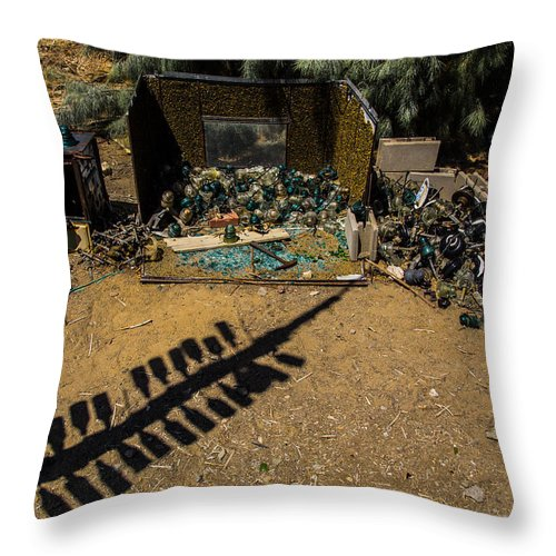 Bottleneck Ranch Throw Pillow featuring the photograph Piles by Angus Hooper Iii