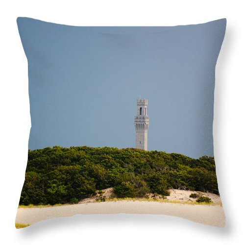 Beach Throw Pillow featuring the photograph Pilgrim Monument Provincetown by Thomas Marchessault