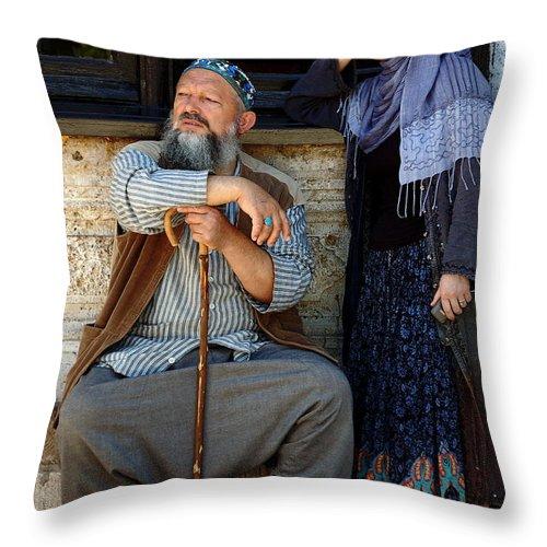 Pilgrims Throw Pillow featuring the photograph Pilgrims... by RicardMN Photography