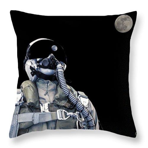 Pilot Throw Pillow featuring the photograph Pilot by Mats Silvan