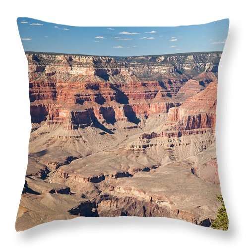 Afternoon Throw Pillow featuring the photograph Pima Point Grand Canyon National Park by Fred Stearns