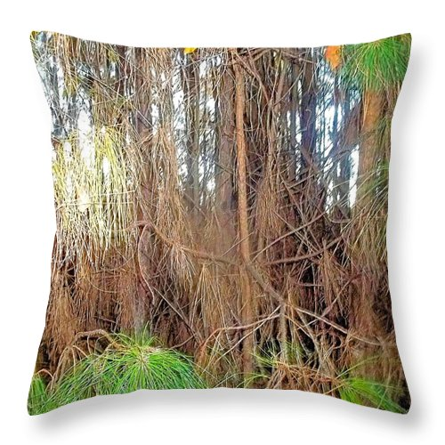 Pine Throw Pillow featuring the photograph Pine Jungle by James Potts