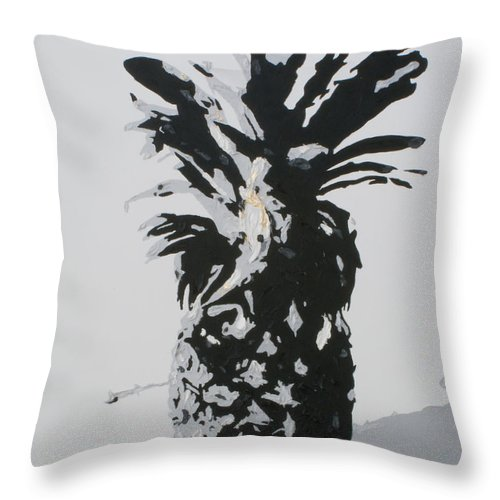 Pineapple Throw Pillow featuring the painting Pineapple by Katharina Filus