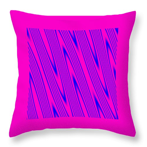 Pink Throw Pillow featuring the digital art Pink And Blue Abstract by Cassie Peters