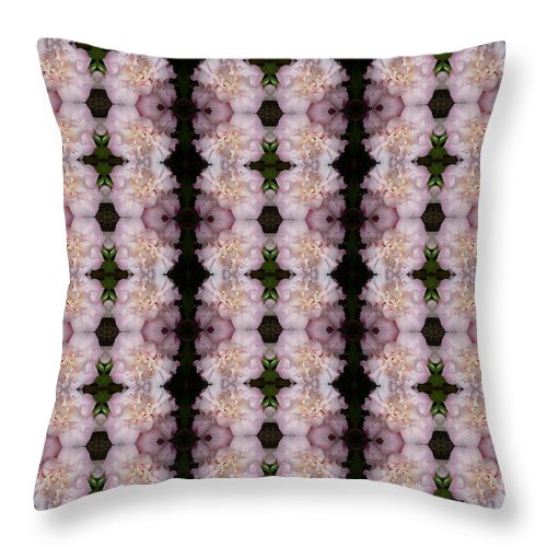 Pink Throw Pillow featuring the photograph Pink Floral Pattern by Nicki Bennett