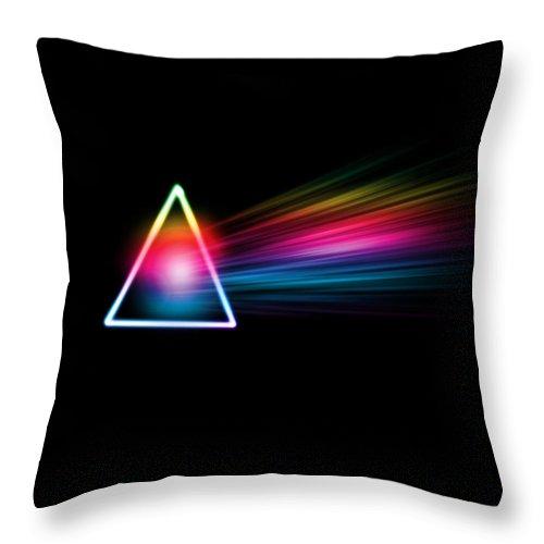 Pink Floyd Throw Pillow featuring the digital art Pink Floyd- Dark Side Of The Moon by Becca Buecher