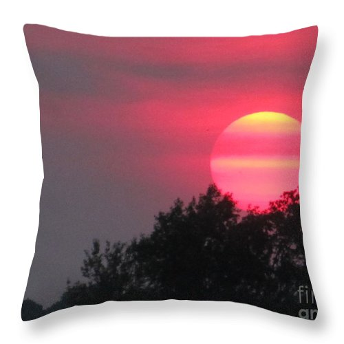 Sun Throw Pillow featuring the photograph Pink Sunset by Tina M Wenger
