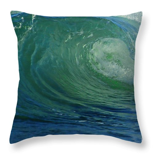 Water Throw Pillow featuring the photograph Pipeline by Winston Rockwell