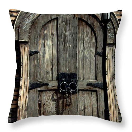 Pirate Throw Pillow featuring the photograph Pirates Door by Daniel Jakus