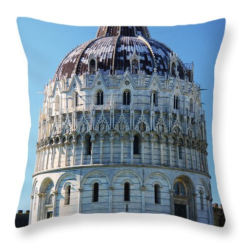 Pisa Throw Pillow featuring the photograph Pisa Basilica by Phill Petrovic