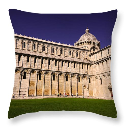 Pisa Throw Pillow featuring the photograph Pisa Cathedral by Phill Petrovic