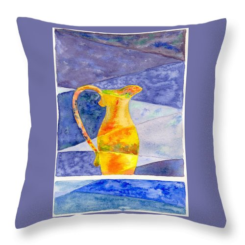 Still Life Throw Pillow featuring the painting Pitcher 1 by Micah Guenther