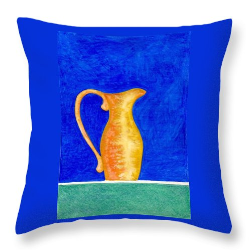Still Life Throw Pillow featuring the painting Pitcher 2 by Micah Guenther