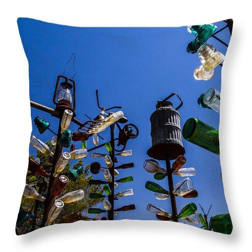Bottleneck Ranch Throw Pillow featuring the photograph Pitchfork by Angus Hooper Iii