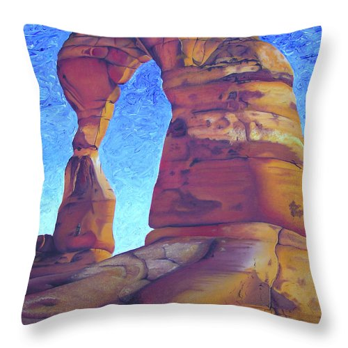 Moab Throw Pillow featuring the painting Place Of Power by Joshua Morton