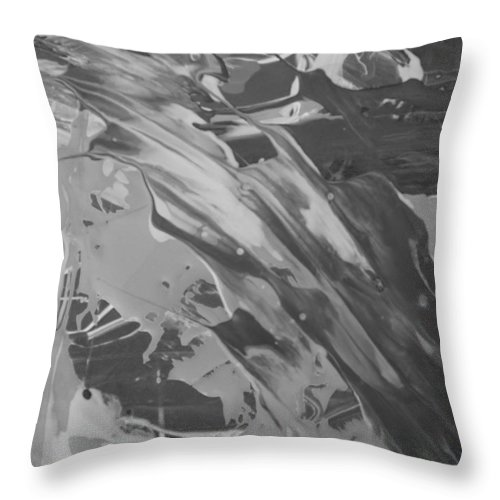 Original Throw Pillow featuring the painting Place To Be by Artist Ai