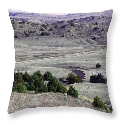 Nebraska Throw Pillow featuring the photograph Plains Of Nebraska by Mountain Dreams