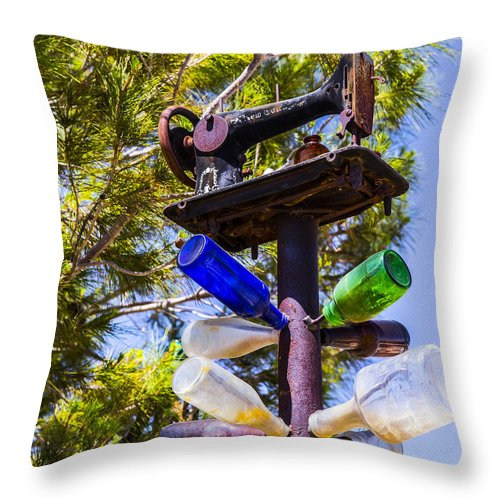 Bottleneck Ranch Throw Pillow featuring the photograph Plane by Angus Hooper Iii