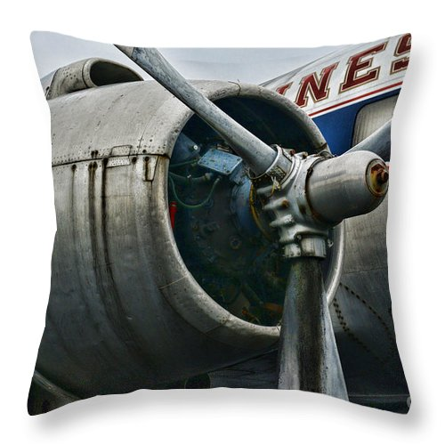 Paul Ward Throw Pillow featuring the photograph Plane Check Your Engine by Paul Ward