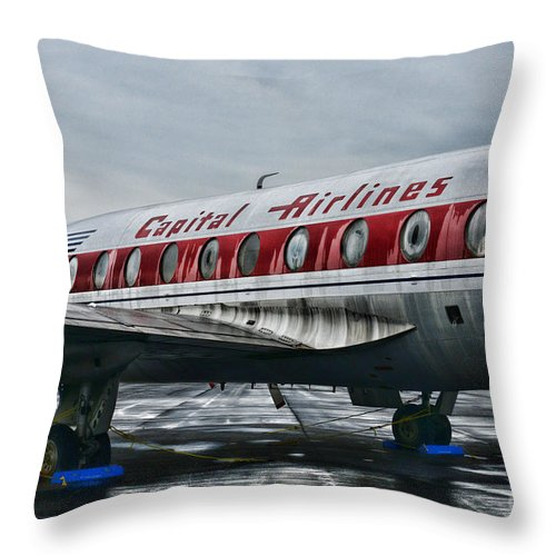 Paul Ward Throw Pillow featuring the photograph Plane Obsolete Capital Airlines by Paul Ward