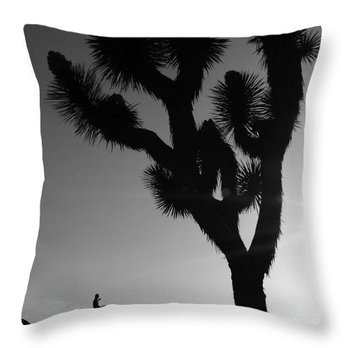 Lovejoy Throw Pillow featuring the photograph Planet Joshua Tree by Lovejoy Creations