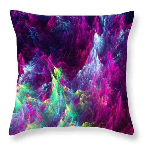 Abstract Throw Pillow featuring the digital art Planet Ocean by Anastasiya Malakhova
