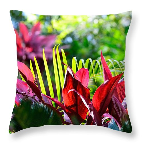 Plant Throw Pillow featuring the photograph Plants by Richard Zentner