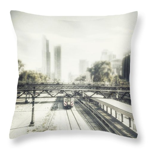 Rail Throw Pillow featuring the photograph Platform by Margie Hurwich