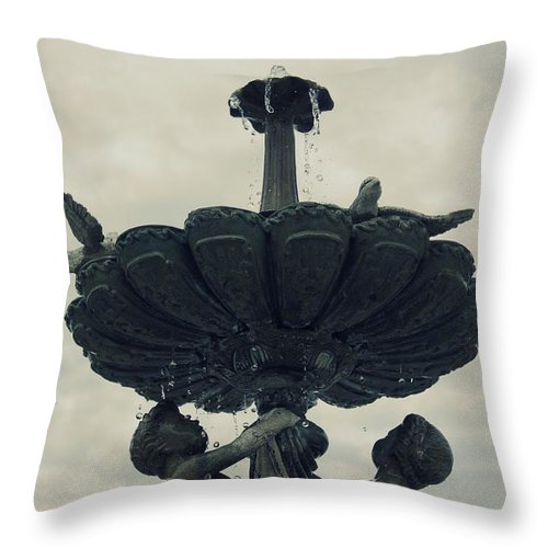 Cherub Throw Pillow featuring the photograph Playful Cherubs by Laurie Perry